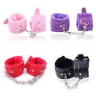 Adults Soft Plush Leather Fetish Handcuffs Sex Ankle Cuff Restraint Toy Gift 1PC