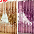 Home Romantic Floral Tulle Voile Door Window Curtain Drape Panel Sheer Valance