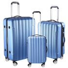 """3 Piece Luggage Travel Set Bag ABS Trolley Rolling Wheels Suitcase 20"""" 24"""""""
