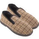 MENS CASUAL SLIP ON TEXTILE TARTAN  WARM SLIPPERS SHOES SIZE UK 7 8 9 10 11 12