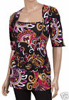 Layered Look Blouse 16 Half-sleeve Buckled Long Colourful Top  Holiday Wear