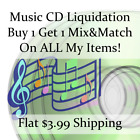 New Music CD Liquidation Sale ** Artists: A-B #4 ** Buy 1 Get 1 flat ship fee