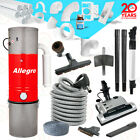 "Allegro Central Vacuum Electric Powerhead 35' Hose 3 Inlet 80ft 2"" Pipe Package"