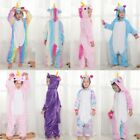HOT! Kids rainbow Unicorn Kigurumi Animal Cosplay Costume Pajamas Sleepwear