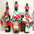Table Party Christmas Decor Wine Bottle Cover Clothes Xmas Santa Reindeer O0048