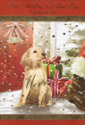 cute FROM OUR DOG TO YOUR / THE DOG happy Christmas card choose from 2 x cards
