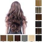 8 Colors Women Large Wave Curly Hair Piece Long Seamless Wig Piece Beauty