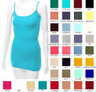 Bozzolo Women's Solid Tank Top Basic Camisole Adjustable Spaghetti Strap Tunic