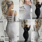 Womens Long Sleeve Bandage Bodycon Cocktail Evening Party Pencil Mini Dress