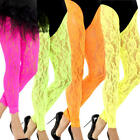 Neon Lace Leggings Ladies Fancy Dress 80s Disco Retro Adults Costume Accessory