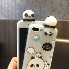 Phone 3D Silicone Cover 3 Panda Shockproof TPU Case For 6/6s 6/6s Plus7 7plus