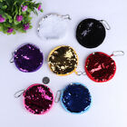 Colorful Sequins Round Coin Purse Pouch Zipper Bag Women Wallet Girl Mini Case