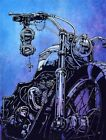 Hard Conflict, Glorious the Triumph by David Lozeau Motorcycle Canvas Art Print $149.0 USD
