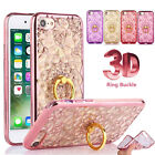 Luxury Finger Holder Ring Buckle With Stand Soft Case Cover For Various Phones