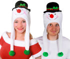 COUPLES CHRISTMAS HATS MENS WOMENS PAIR OF FESTIVE FANCY DRESS ACCESSORIES