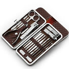 18PCS Pedicure / Manicure Set Cuticle Grooming Kit Case Nail Clippers Cleaner