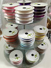 SATIN RIBBON wedding - 3mm & 6mm (10m reel), 10mm & 15mm (7m reel)  -30+ shades!