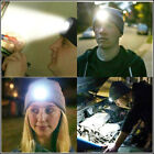 Outdoor Warm Acrylic LED Lighted Beanie Cap Rechargeable Headlamp Fishing Hat