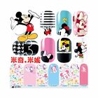 Mickey Minnie Cartoon Nail Art Stickers Wraps Decals Fingernail Water Transfers
