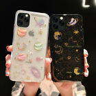 Cosmos Bling Glitter Star Planet Constellation Soft Case For iPhone X 8 7 6 Plus