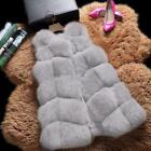 Women Casual Artificial Fur Fashion Solid Warm Vest B20E