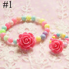 Acrylic Set Kids Ring Resin Children Beads Cute Girls Jewelry Fashion Bracelet