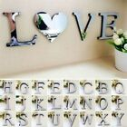 Acrylic Decals 3D Mirror Wall Sticker 26 Letters DIY Art Mural Home Room Decor