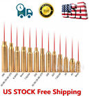 US Red Dot Laser Bore Sight Brass Cartridge Caliber &battery For Gun Rifle Scope