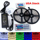 10M 3528 5050 RGB 300 SMD Flexible LED Strip Light 44key Remote 12V Power Supply