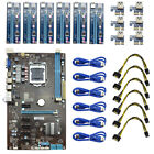 Mining Motherboard W/ 6PCs PCI-E Extender Riser Card Spare For BTC Eth Rig