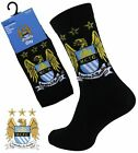 1 Boys MANCHESTER CITY Crest Badge FOOTBALL CLUB Soccer Team Socks UK 4-6