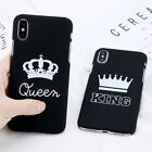 King Queen Couple Matte Hard Case Cover Skin For Apple iPhone 5S 6S 7 8 X Plus