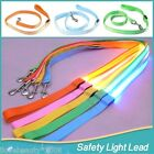 AU LED Light Pet Dog Lead Leashes Night Safety Walking Training Colorful  Leash