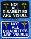 """Not All Disabilities Are Visible Service Dog Patch 2.5X4""""  Disabled Danny LuAnn"""