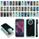 For Motorola Moto X4/ Moto X 4th 2017 Hybrid Bumper Shockproof Case Cover + Pen