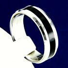 Wedding Band Mens Stainless Steel Engagement Anniversary Ring