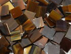 Chocolate Syrup Brown Hand Cut Stained Glass Mosaic Tiles #434