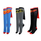 Unisex Soft Cotton Sport Sock Knee High Wonder Woman Batgirl Supergirl Superboy