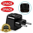 Universal US to EU Europe World Travel Wall Power Converter Adapter Type C Plug