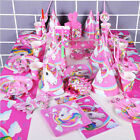 Kinder Einhorn Theme Birthday Party Supplies Gunst Geschirr Dekor Geschenk Set