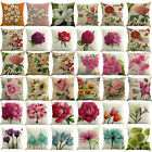 Spring Flower Pillow Case Square Cover Sofa Waist Cushion Covers Home Decor 45cm