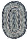 Boston Common Oval Braided Rug, BC53 Capeside Blue ~ Made in USA