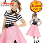 CK1092 Girls Soda Shop Sweetie 1950s 50s Poodle Grease Retro Decade Teen Costume