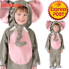 CK1107 Toddler Cuddly Elephant Animal Costume Kids Jumpsuit Halloween Outfit