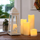 Romantic Cylindrical Flickering LED Candle Light Flameless Christmas Lamps MSYG