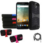 Phone Case For ZTE Zmax Champ / ZTE Warp 7 4G LTE Heavy Duty Cover USB Charger