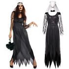 Ladies Day of the Dead Corpse Bride Costume Halloween Vampire Zombie Fancy Dress