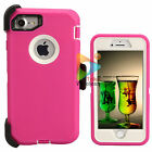 For Apple iPhone 7 / 7+ Plus Case (Clip Fits Otterbox Defender) Heavy Duty Pink