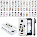 For Alcatel Dawn 5027 Acquire Streak 4060A Crystal Bling HYBRID Case Cover + Pen
