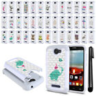 For Alcatel One Touch Fierce 2 7040T A564C Crystal Bling HYBRID Case Cover + Pen